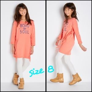 Girls fringe dress sz 8